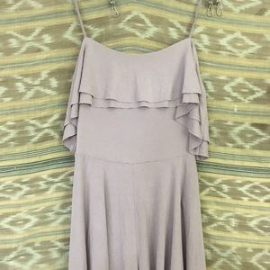 Lavender stretchy pull on romper